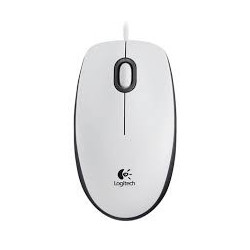 LOGI M100 Mouse White USB