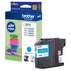 BROTHER LC221C ink cyan 260...
