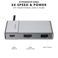 Hyper Hyperdrive GEN2 USB-C...